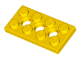 LEGO 3709b - Yellow Technic, Plate 2 x 4 with 3 Holes