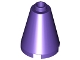LEGO 3942c - Dark Purple Cone 2 x 2 x 2 - Completely Open Stud