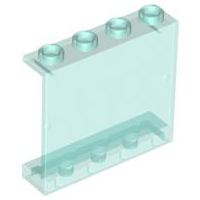 LEGO 4215b - Trans-Light Blue Panel 1 x 4 x 3 - Hollow Studs