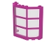 LEGO 30185c04 - Dark Pink Window Bay 3 x 8 x 6 with Trans-Clear Glass