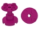 LEGO 3940b - Magenta Support 2 x 2 x 2 Stand with Complete Hole