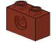 LEGO 3700 - Reddish Brown Technic, Brick 1 x 2 with Hole