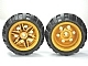 LEGO 56145c04 - Pearl Gold Wheel 30.4mm D. x 20mm