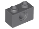 LEGO 3700 - Dark Bluish Gray Technic, Brick 1 x 2 with Hole