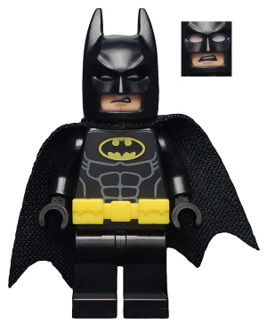 LEGO sh329 - Batman - Utility Belt, Head Type 3