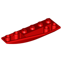 LEGO 41765 - Red Wedge 6 x 2 Inverted Left