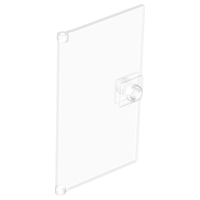 LEGO 60616 - Trans-Clear Door 1 x 4 x 6 with Stud Handle