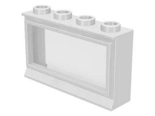 LEGO 453 - White Window 1 x 4 x 2 with Fixed Glass