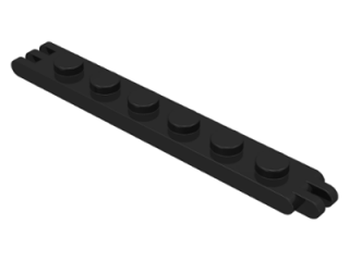 LEGO 4504 - Black Hinge Plate 1 x 6 with 2 and 3 Fingers On Ends