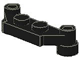 LEGO 4590 - Black Plate, Modified 1 x 4 Offset