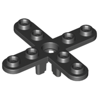 LEGO 2479 - Black Propeller 4 Blade 5 Diameter with Rounded Ends
