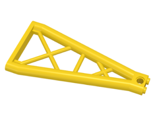 LEGO 64449 - Yellow Support 1 x 6 x 10 Girder Triangular