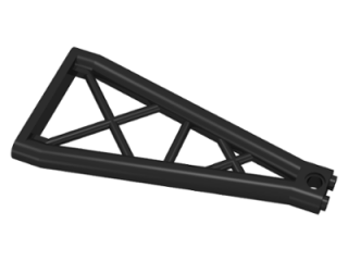 LEGO 64449 - Black Support 1 x 6 x 10 Girder Triangular