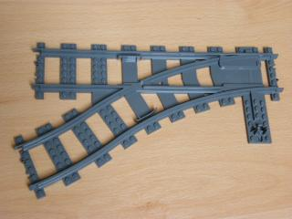 LEGO 53407 Train, Track Plastic (RC Trains) Switch Point Left