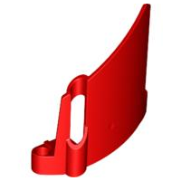 LEGO 44353 - Red Technic, Panel Fairing #23 Large Short, Small Hole, Side B