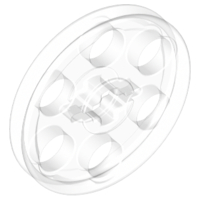 LEGO 4185 - Trans-Clear Technic Wedge Belt Wheel (Pulley)