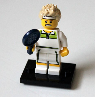 LEGO col07-9 - Tennis Ace - Complete Set