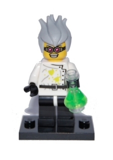 LEGO ol04-16 - Crazy Scientist - Complete Set