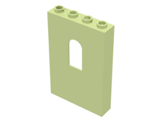 LEGO 60808 - Yellowish Green Panel 1 x 4 x 5 with Window