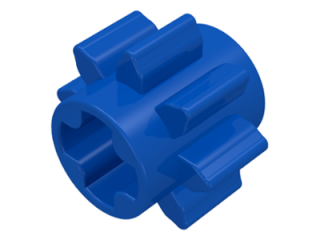 LEGO 3647 - Blue Technic, Gear 8 Tooth Type 1