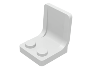 LEGO 4079 - White Minifig, Utensil Seat (Chair) 2 x 2