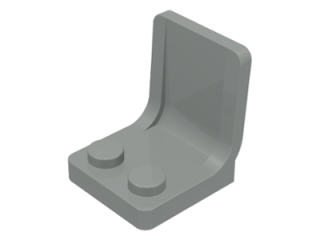 LEGO 4079 - Light Gray Minifig, Utensil Seat (Chair) 2 x 2