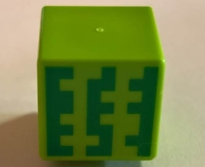 LEGO 19729pb023 - Minifig, Head Modified Cube with Minecraft Melon Pattern