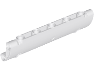 LEGO 62531 - White Technic, Panel Curved 11 x 3 with 2 Pin Holes through Panel S