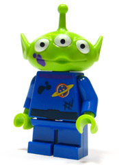 LEGO toy014 - Alien - Purple Splotch on Face