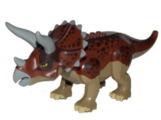 LEGO Tricera01 - Dino Triceratops with Reddish Brown Back