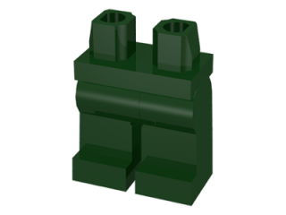 LEGO 970c00 - Dark Green Hips and Legs