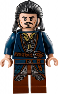 LEGO lor092 - Bard the Bowman - Silver Buckle and Shirt Grommets