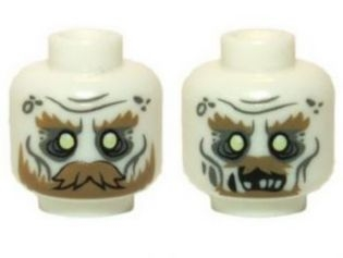 LEGO 3626cpb0950 - Minifig, Head Dual Sided LotR Ghost with Glowing Eyes