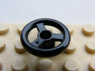 LEGO 2819 - Black Technic, Steering Wheel Small, 3 Studs Diameter