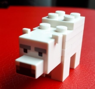 LEGO minebear01 - Minecraft Polar Bear Baby - Complete Assembly