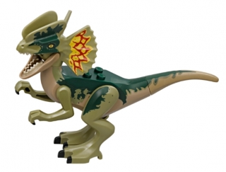LEGO Dilo02 Dino Dilophosaurus with Dark Green and Olive Green Back