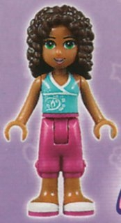 LEGO  frnd078 Friends Andrea, Magenta Cropped Trousers