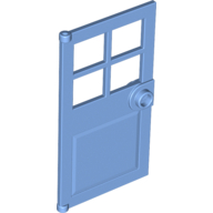 LEGO 60623 - Medium Blue Door 1 x 4 x 6 with 4 Panes and Stud Handle