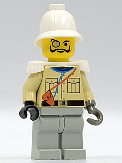 LEGO adv039 Baron Von Barron with Pith Helmet and White Epaulettes
