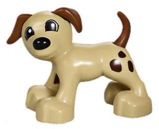 LEGO 1396pb01 Duplo Dog Large Paws with Brown Ears and Tail and Spots