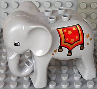 LEGO eleph2c01pb04 Duplo Elephant Adult Stationary Head