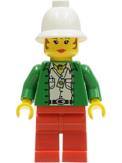 LEGO adv016 Miss Gail Storm (Jungle) with Pith Helmet