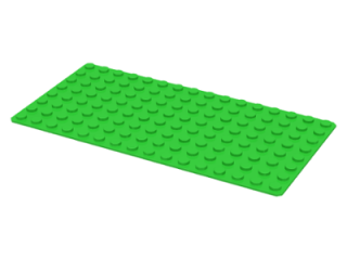 LEGO 3865 Bright Green Baseplate 8 x 16
