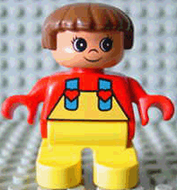 LEGO 6453pb011 Duplo Figure, Child Type 2 Girl