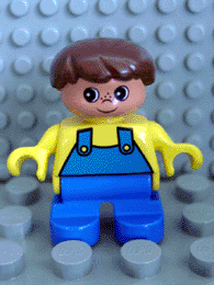 LEGO 6453pb006 Duplo Figure, Child Type 2 Boy, Blue Legs