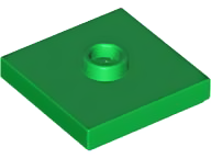 LEGO 87580 Green Plate, Modified 2 x 2 with Groove and 1 Stud in Center