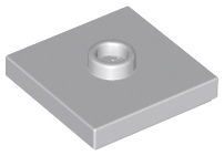 LEGO 87580 Light Bluish Gray Plate, Modified 2 x 2 with Groove and 1 Stud in Center
