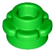 LEGO 24866 - Bright Green Plate, Round 1 x 1 with Flower Edge