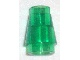 LEGO 4589 Trans-Green Cone 1 x 1 with Top Groove