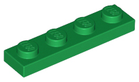 LEGO 3710 Green Plate 1 x 4